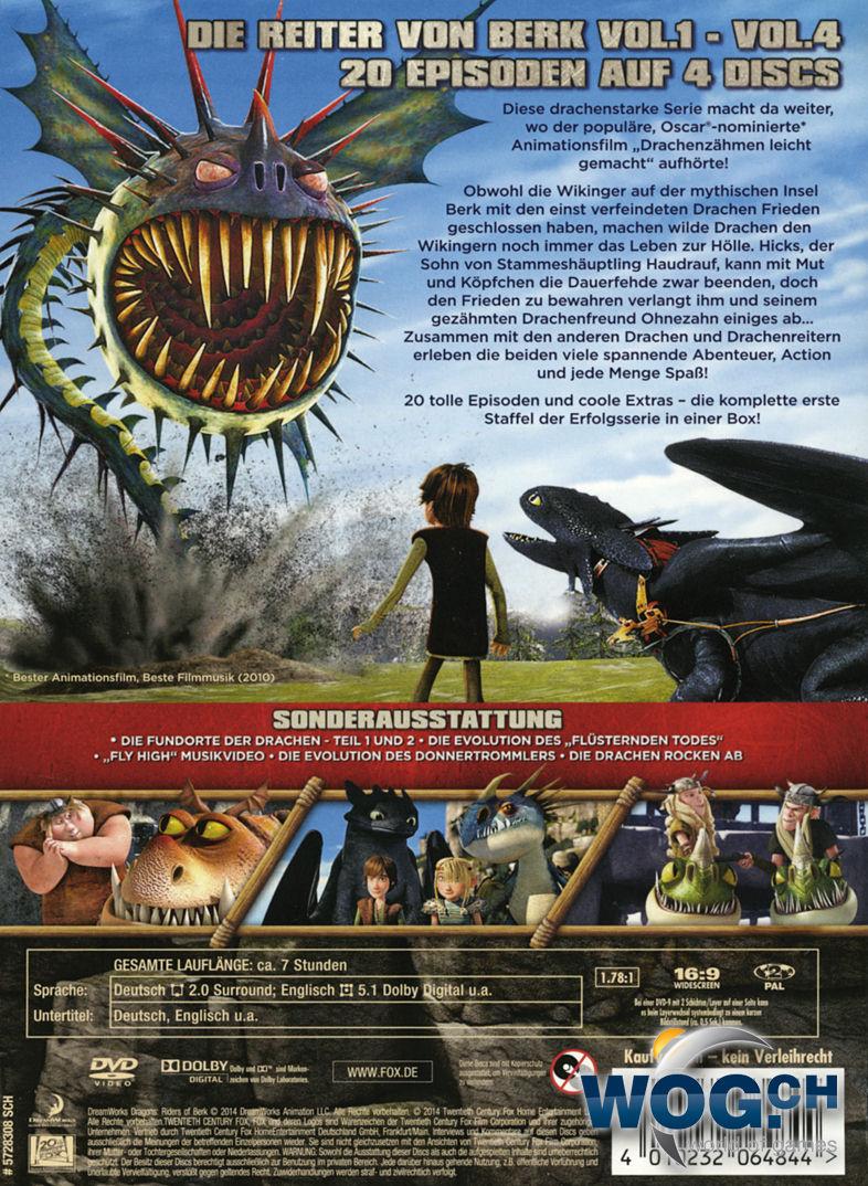 dragons die reiter von berk staffel 1 box 4 dvds dvd filme world of games. Black Bedroom Furniture Sets. Home Design Ideas