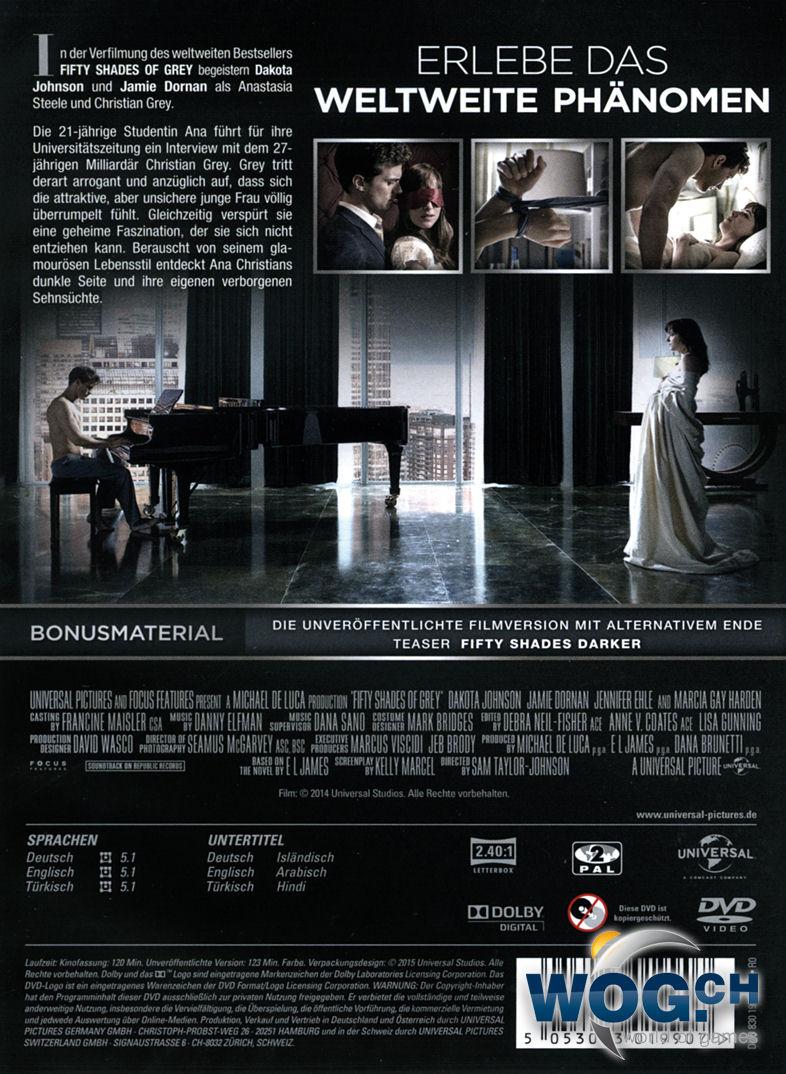 fifty shades of grey 1 geheimes verlangen dvd filme. Black Bedroom Furniture Sets. Home Design Ideas