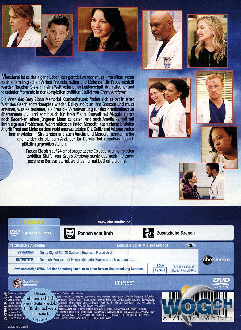 Grey\'s Anatomy: Staffel 12 Box (6 DVDs) [DVD Filme] • World of Games