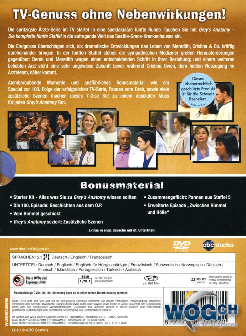 Grey's Anatomy: Staffel 05 Box (7 DVDs) [DVD Filme