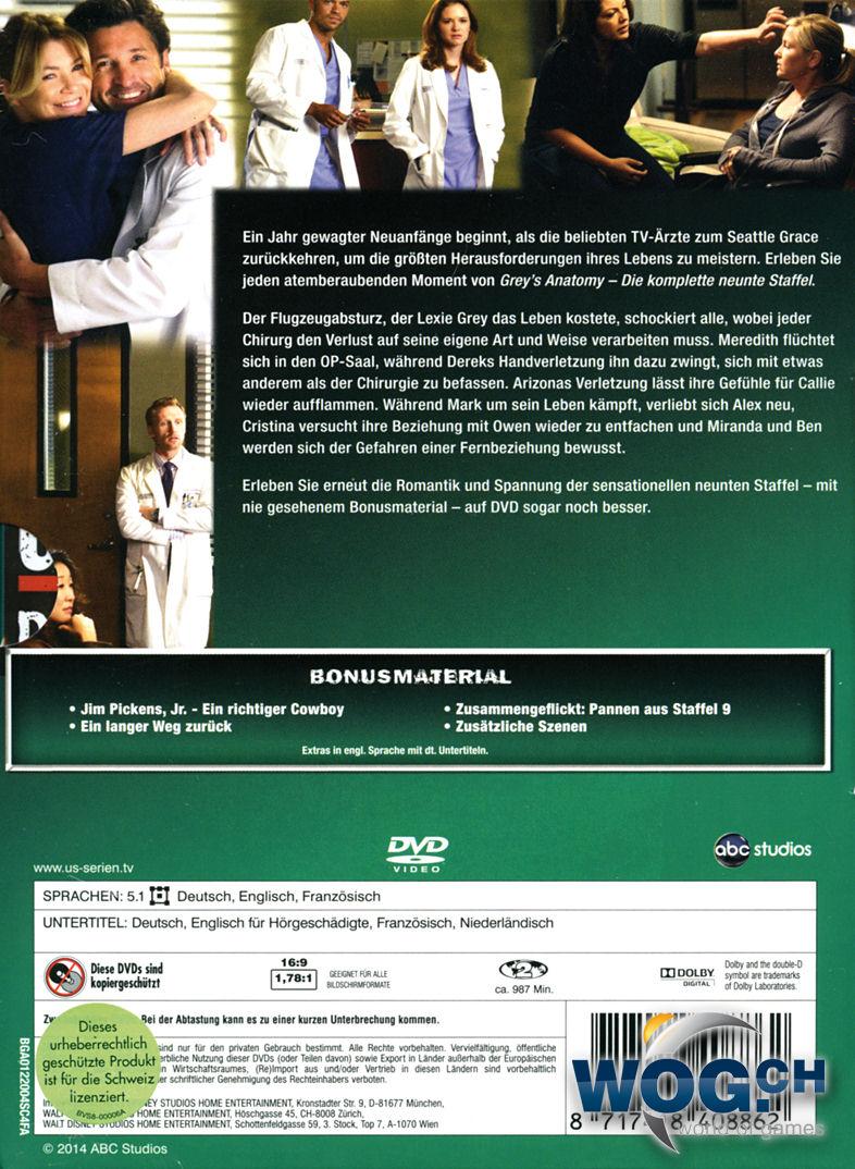 Grey\'s Anatomy: Staffel 09 Box (6 DVDs) [DVD Filme] • World of Games