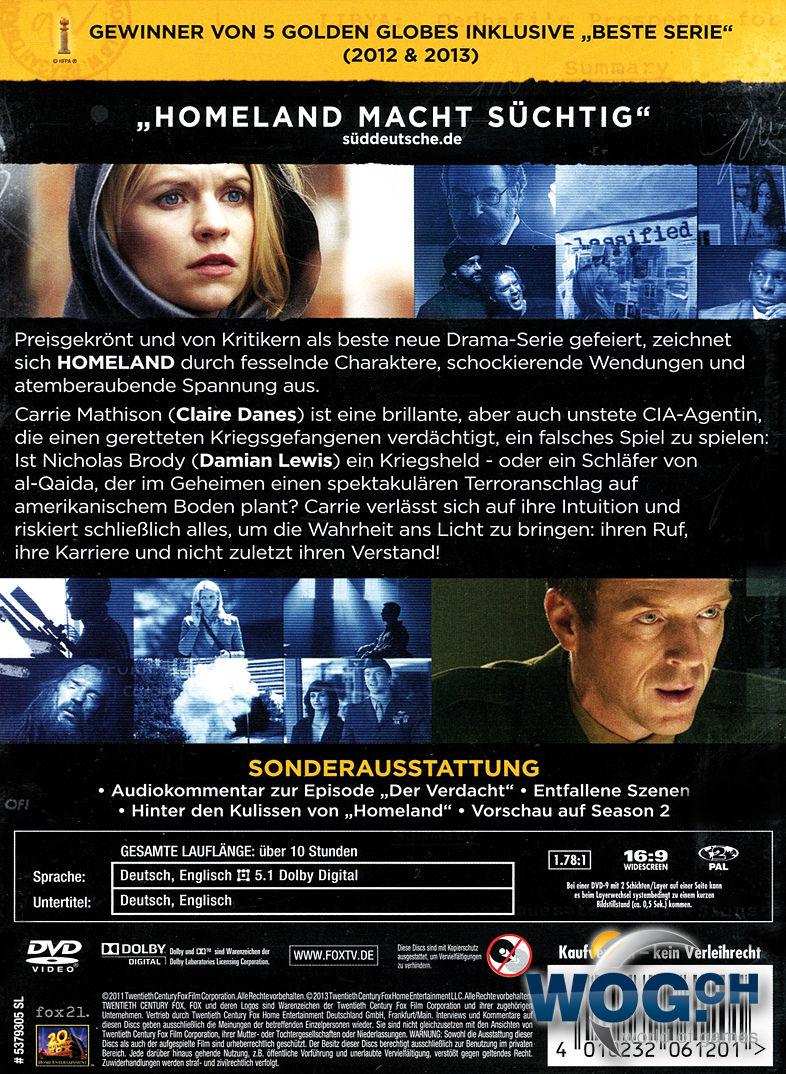 Homeland Staffel 1 4 Dvds Dvd Filme World Of Games