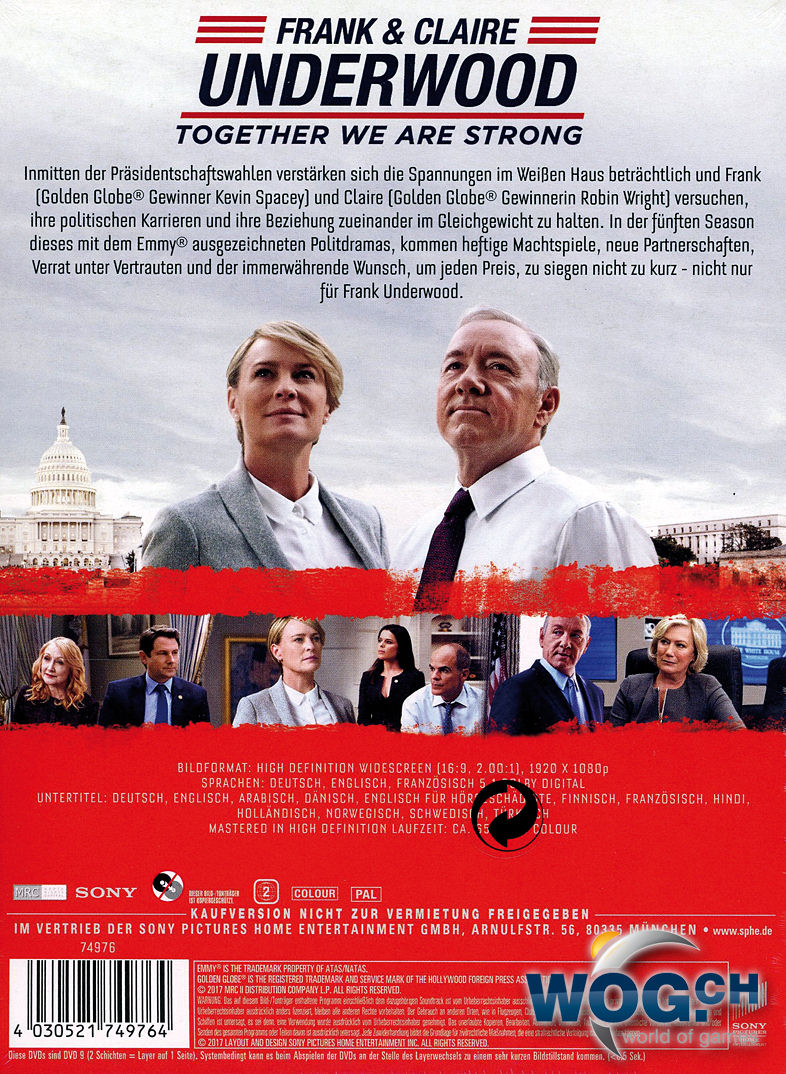 5 Staffel House Of Cards