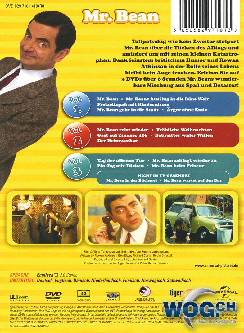 Mr Bean Frohe Weihnachten.Mr Bean Die Komplette Tv Serie 3 Dvds Dvd Filme