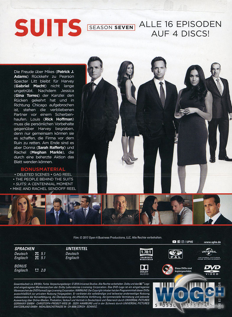 Suits Staffel 7 Dvd