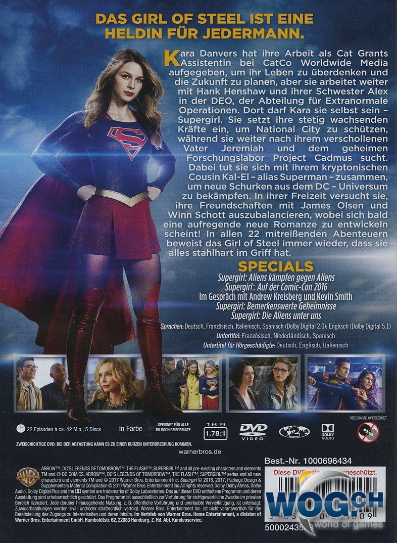Supergirl Staffel 2 Dvd