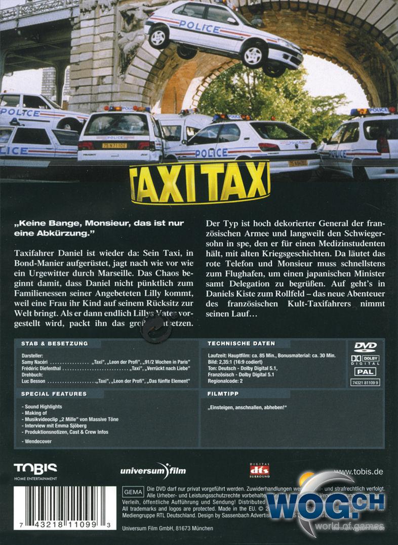 taxi 2 dvd filme world of games. Black Bedroom Furniture Sets. Home Design Ideas