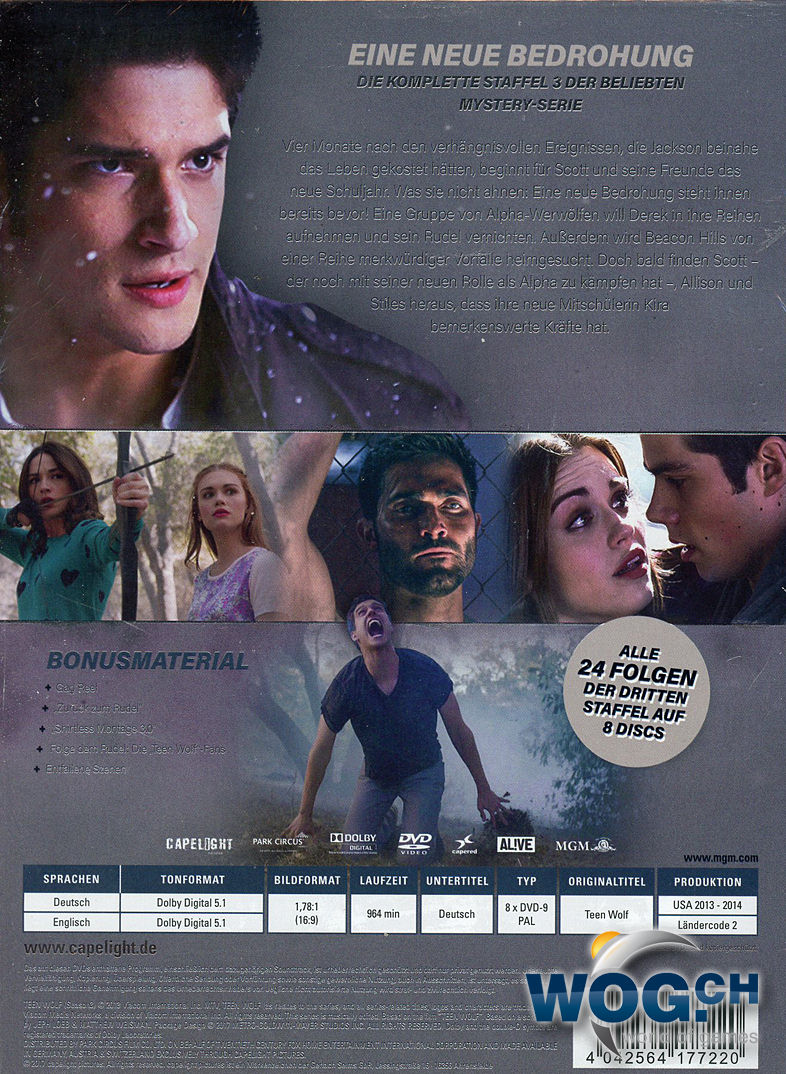 Teen Wolf Staffel 3 8 Dvds Dvd Filme World Of Games