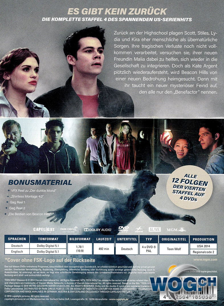 Teen Wolf Staffel 4 4 Dvds Dvd Filme World Of Games
