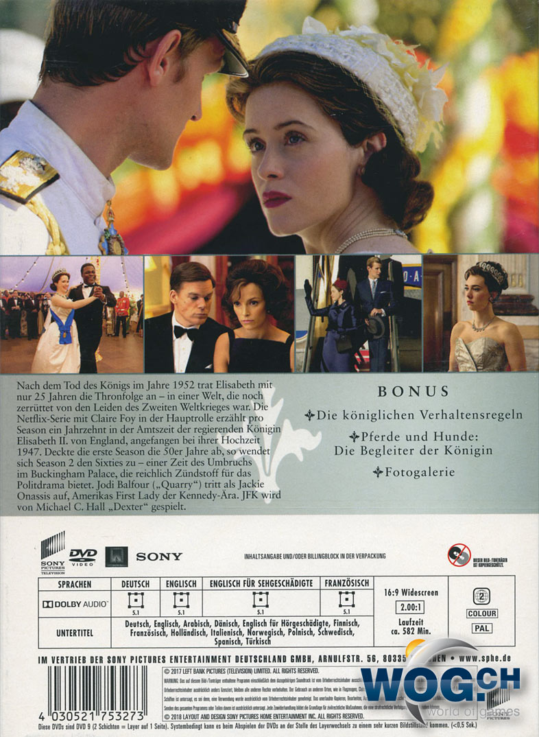 The Crown Staffel 2 4 Dvds Dvd Filme World Of Games
