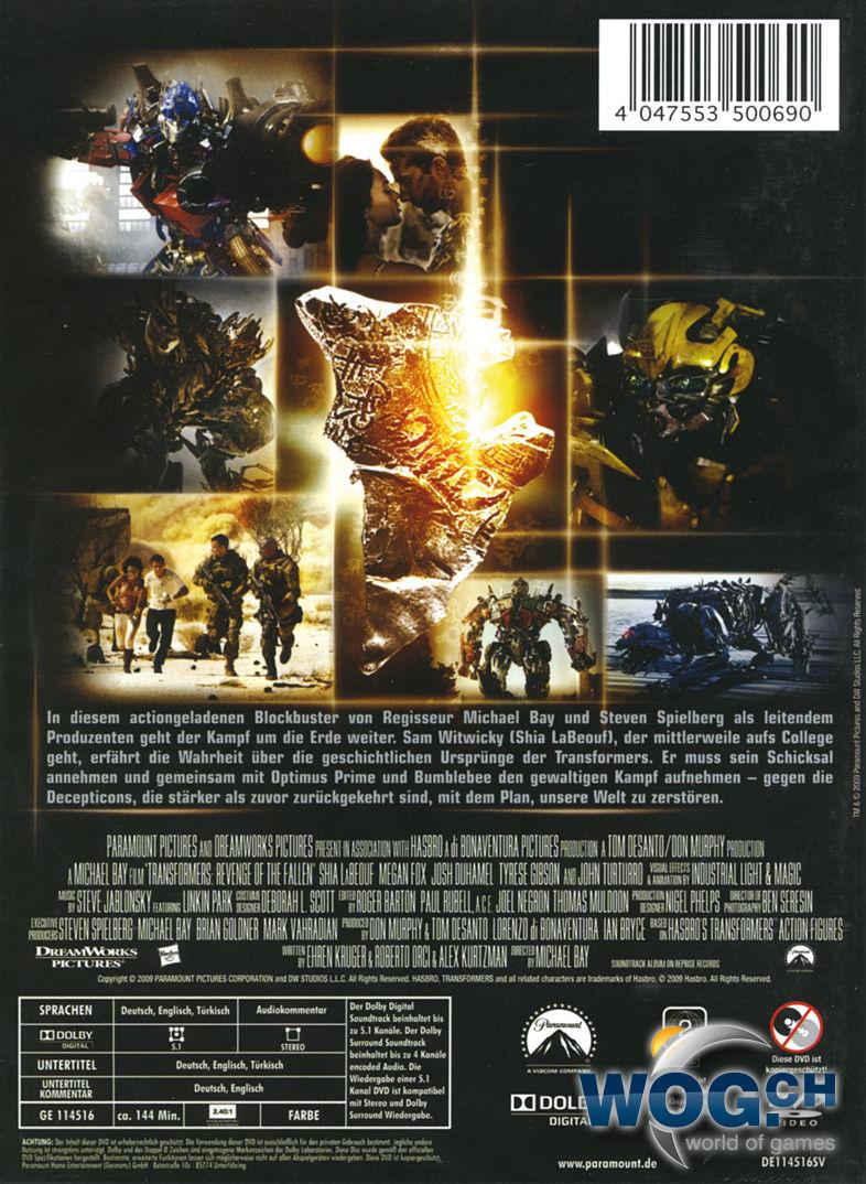 transformers 2 die rache dvd filme world of games. Black Bedroom Furniture Sets. Home Design Ideas
