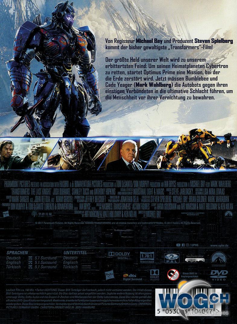 Transformers 5 The Last Knight Dvd Filme