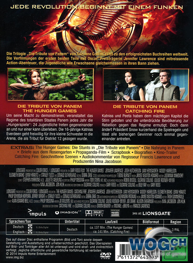 Die tribute von panem the hunger games catching fire 2 dvds dvd filme world of games for Die tribute von panem 2
