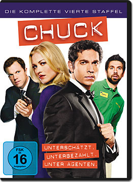 Chuck: Staffel 4 Box (5 DVDs)