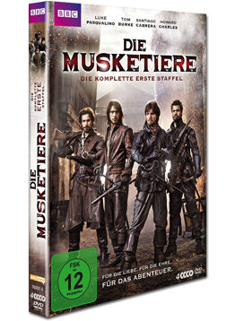 Die Musketiere: Staffel 1 Box (4 DVDs)