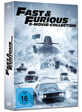 Fast & Furious - 8 Movie Collection (8 DVDs)