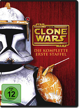Star Wars: The Clone Wars - Die komplette 1. Staffel (4 DVDs)