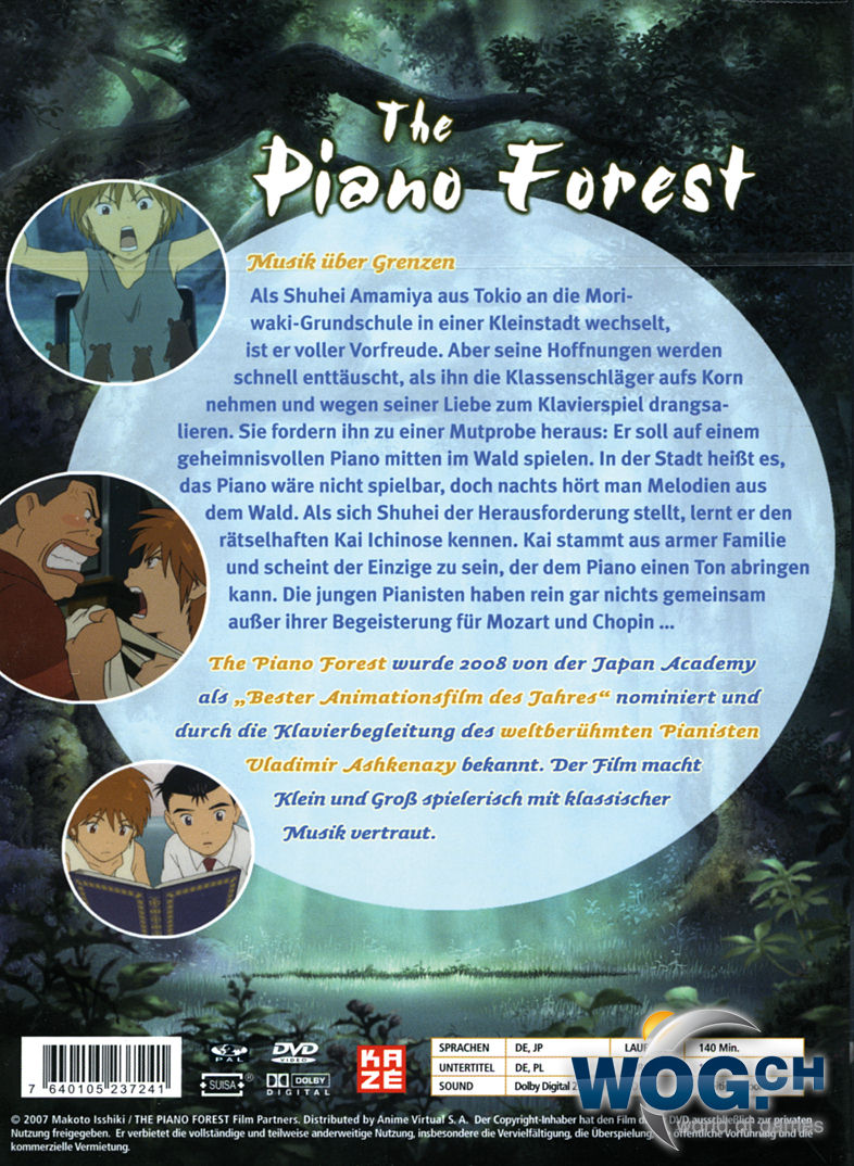 The Piano Forest Anime DVD O World Of Games