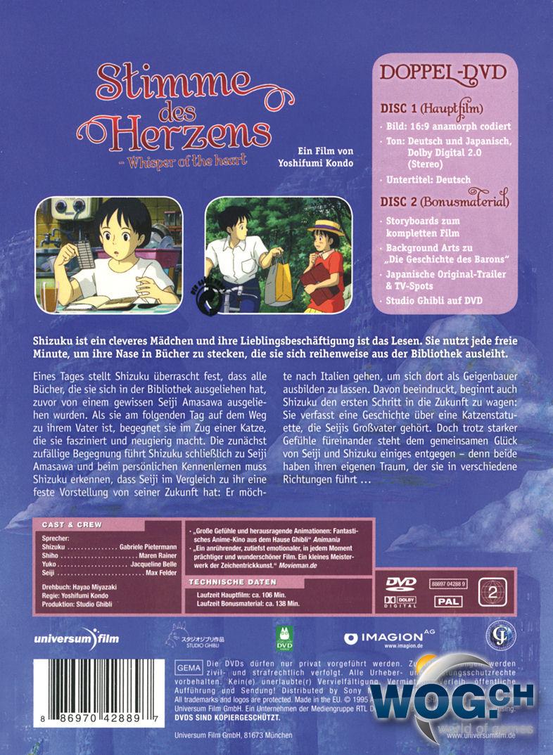 Stimme des Herzens - Special Edition (2 DVDs) [Anime DVD] • World of ...