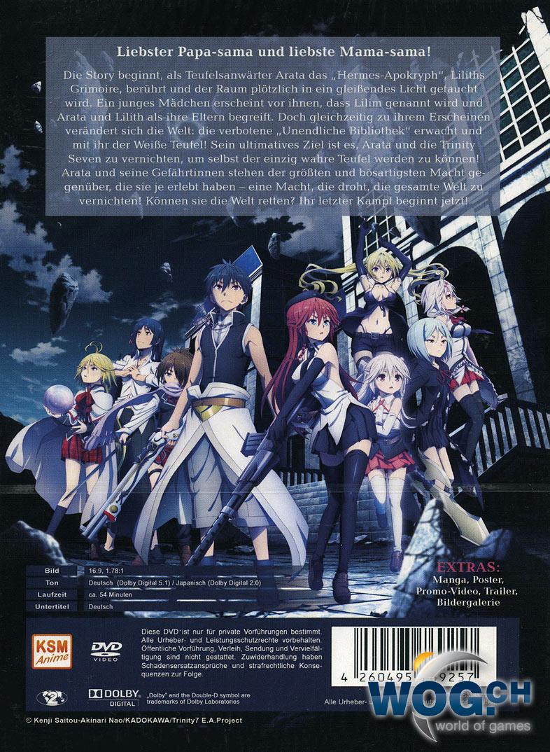 Trinity Seven Movie 1 Eternity Library Alchemic Girl Anime Dvd