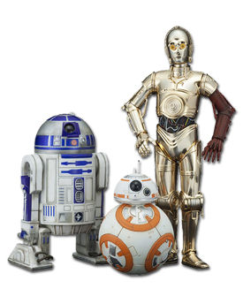 Star Wars: The Force Awakens - C-3PO & R2-D2 & BB-8