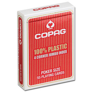 Poker Cards 4 Corner PVC - Jumbo Index Face Red