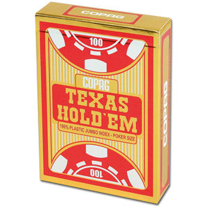 Poker Cards Texas Hold'em PVC - Jumbo Index Face Red