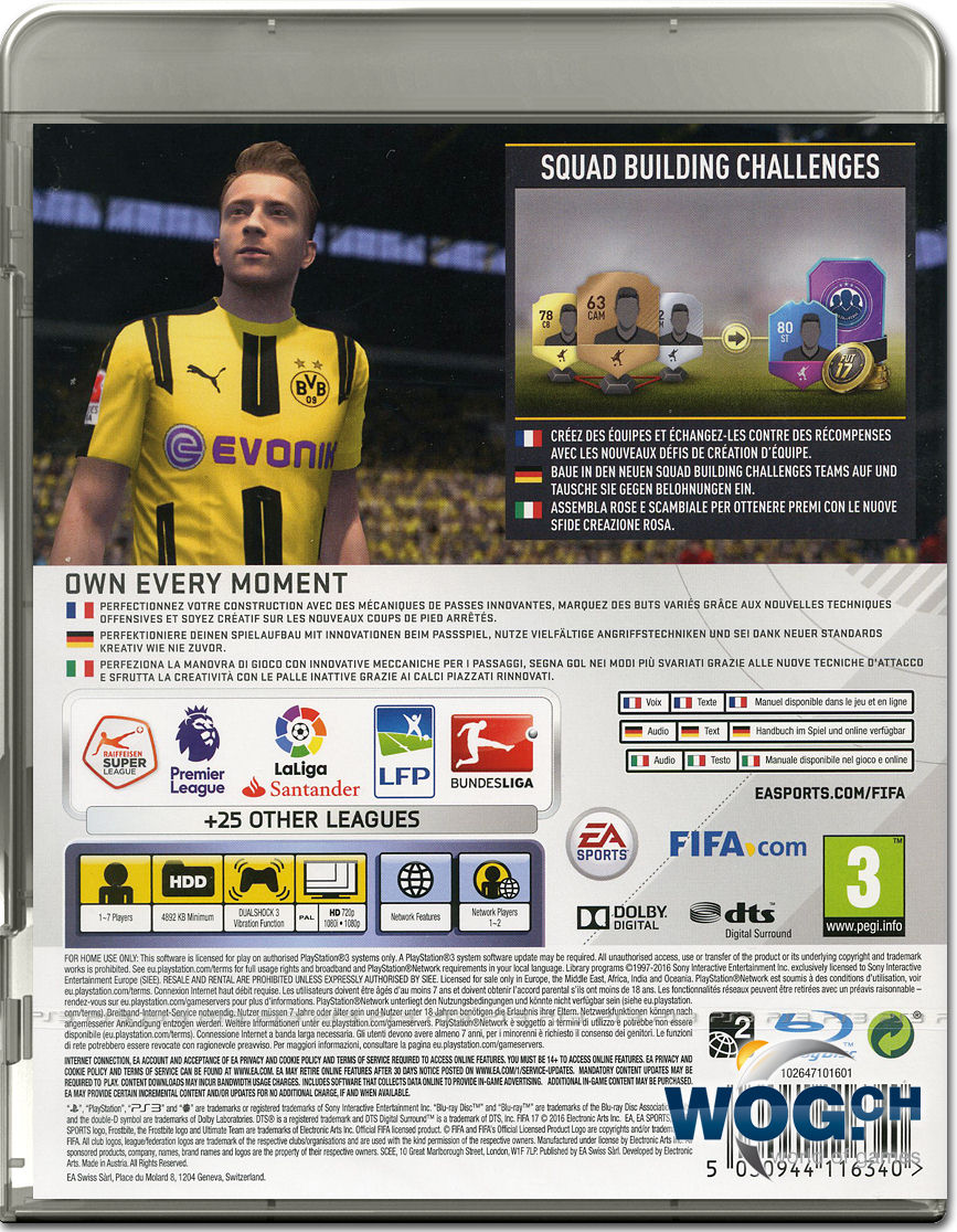 fifa 17 playstation 3 world of games. Black Bedroom Furniture Sets. Home Design Ideas