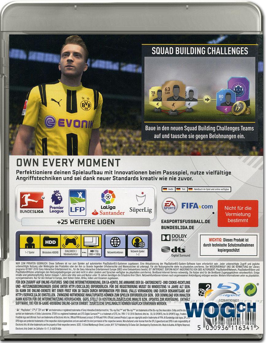 fifa 17 playstation 3 world of games. Black Bedroom Furniture Sets. Home Design Ideas