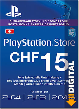 Playstation Store Guthaben CHF 15.-- (Sony)