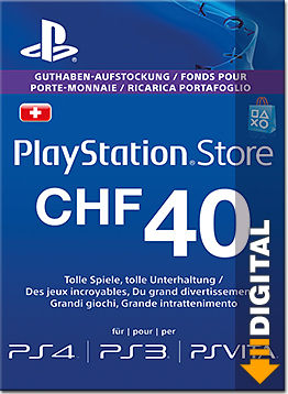 Playstation Store Guthaben CHF 40.-- (Sony)