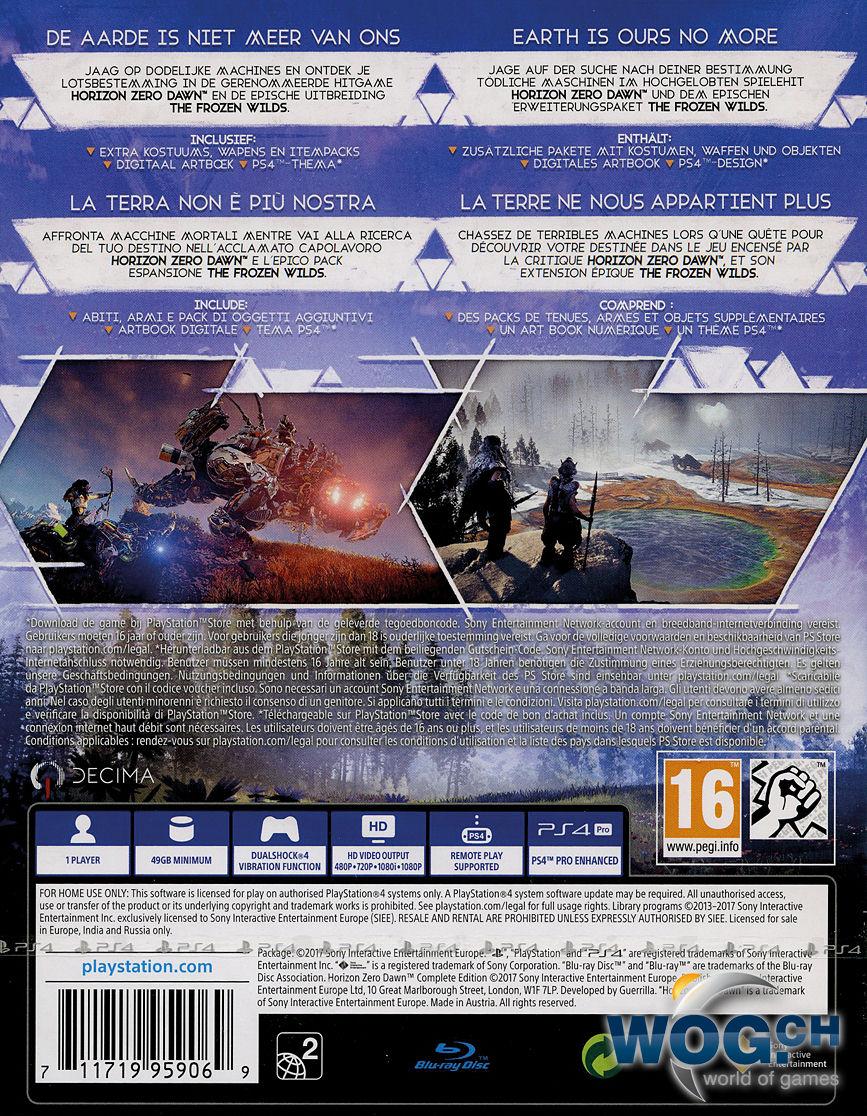 horizon zero dawn complete edition dlc on disc