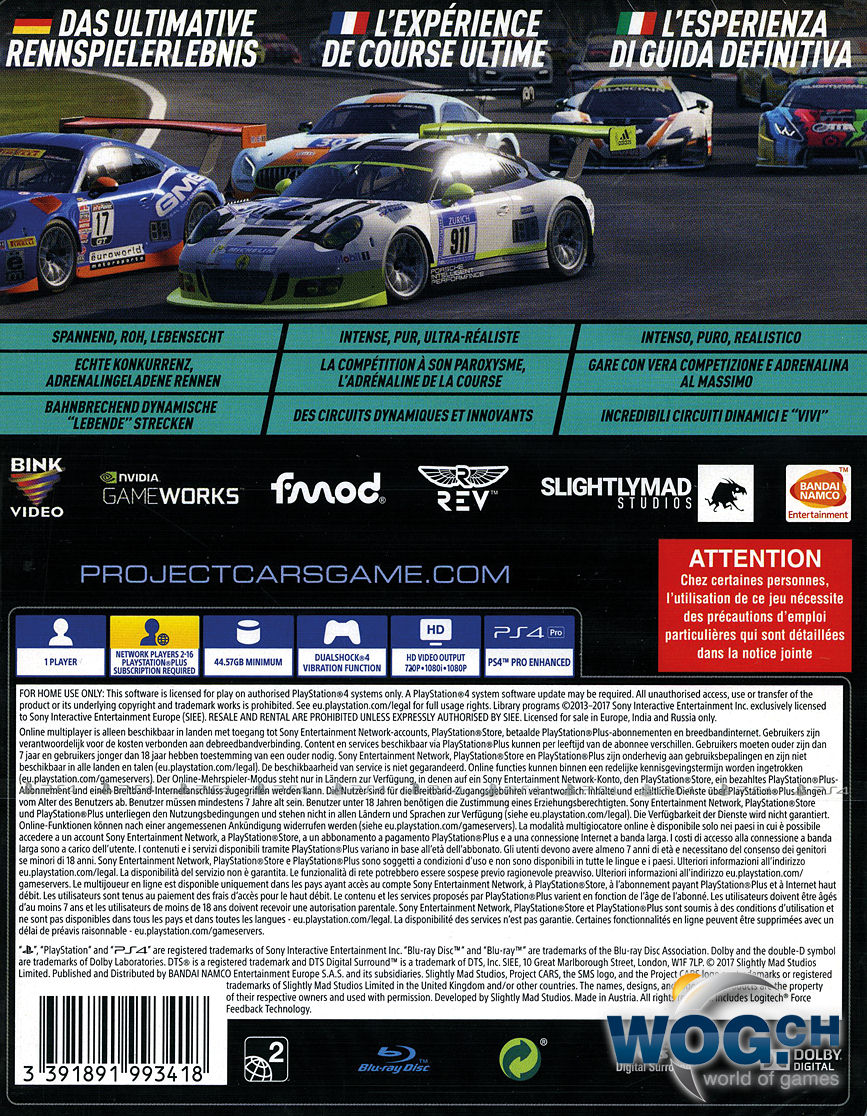 project cars 2 limited edition playstation 4 world. Black Bedroom Furniture Sets. Home Design Ideas
