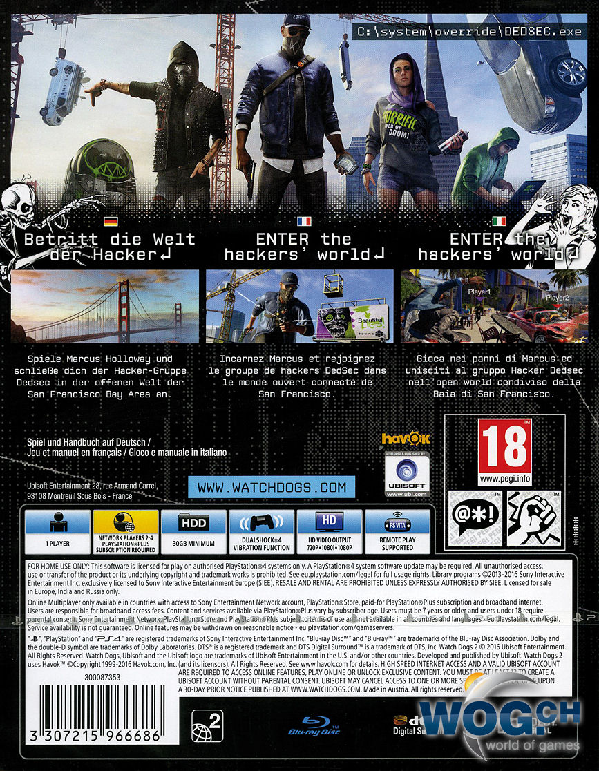Watch Dogs  Cover Xbox One