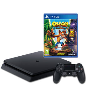 Sony Playstation 4 Slim 500 GB - Crash Bandicoot N. Sane Trilogy Set -Black- (Sony)