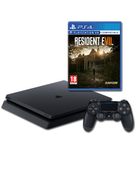 Sony Playstation 4 Slim 500 GB - Resident Evil 7 Set -Black- (Sony)