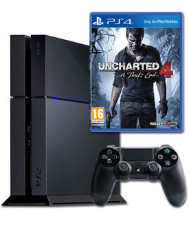 Sony Playstation 4 PAL 1 TB - Uncharted 4: A Thief's EndSet -Black- (Sony)