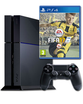 Sony Playstation 4 PAL 500 GB - FIFA 17 Set -Black- (Sony)