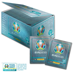 UEFA EURO 2020TM Pearl Edition official Sticker 100-Box