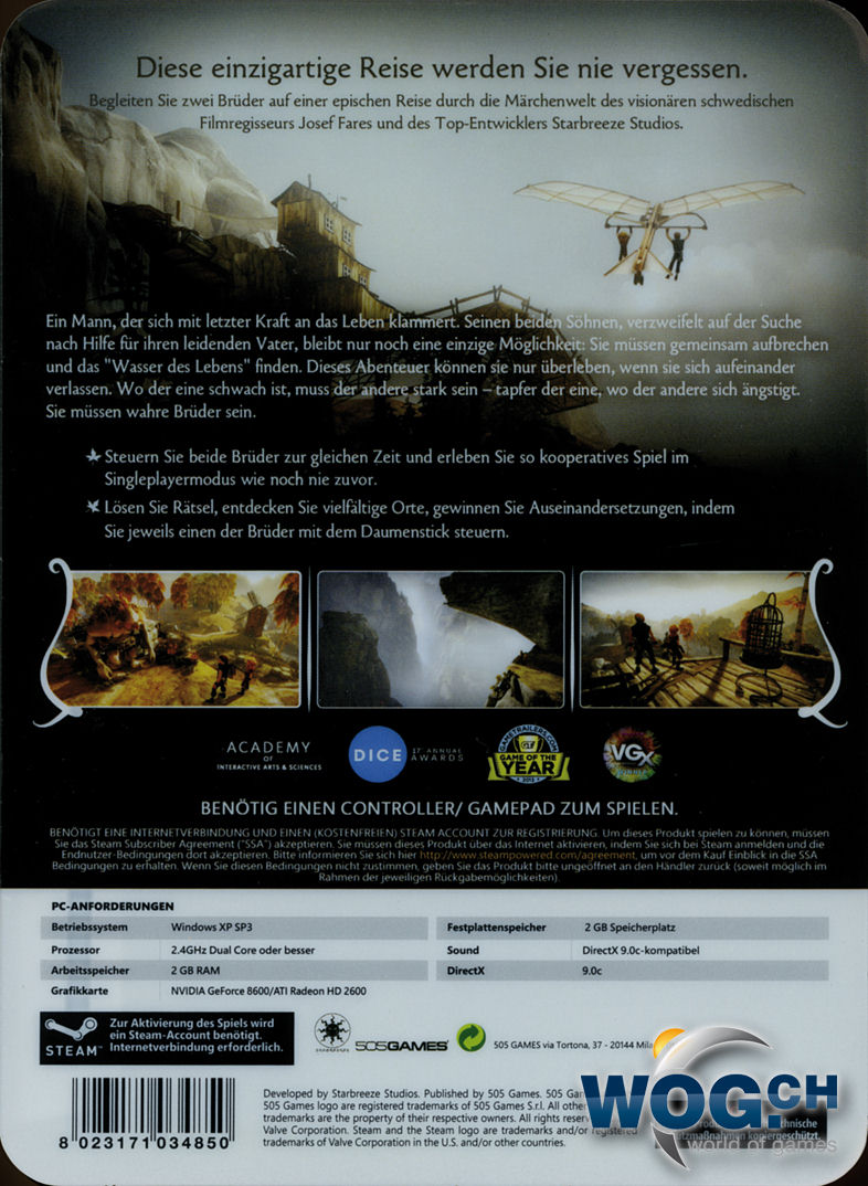 Brothers: A Tale of Two Sons - Limitierte Edition (Code in a Box ...