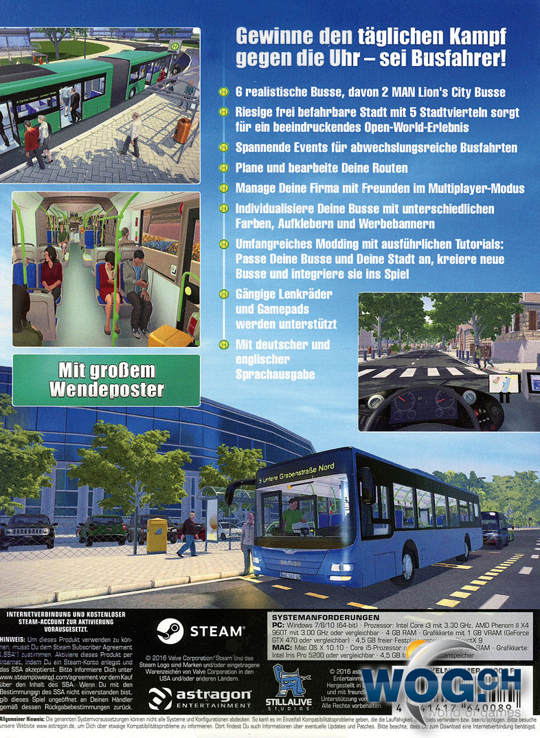 bus simulator 16 pc games world of games. Black Bedroom Furniture Sets. Home Design Ideas