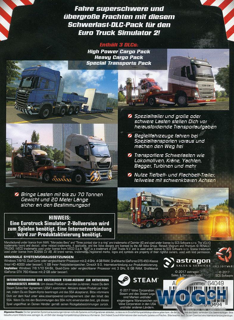 euro truck simulator 2 heavy cargo dlc pack pc games. Black Bedroom Furniture Sets. Home Design Ideas