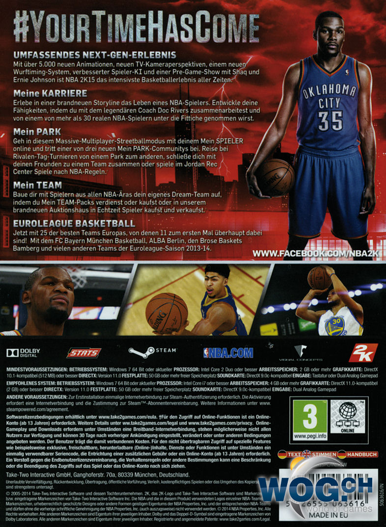 Xbox One Nba 2k15 Cover Nba 2k15 Code In A Box Pc Games