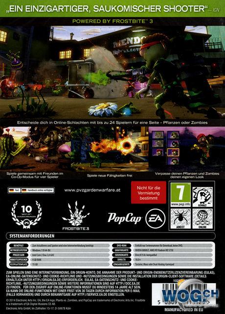 Plants Vs Zombies Garden Warfare Code In A Box Pc