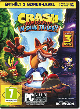 Crash Bandicoot N. Sane Trilogy (Code in a Box)