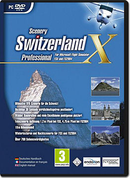 Flight Simulator X Add-on: Scenery Switzerland Professional X