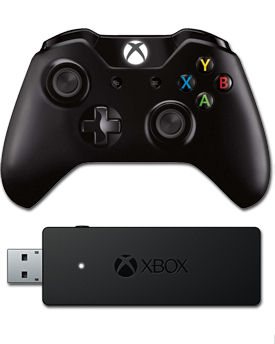 Game Pad & Wireless Adapter Xbox One for Windows -Black- (Microsoft)