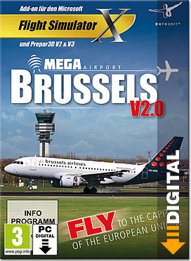 Flight Simulator X: Mega Airport Brussels V2.0