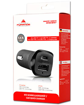 Car Quick Charger & USB-C Cable (AK Tronic)