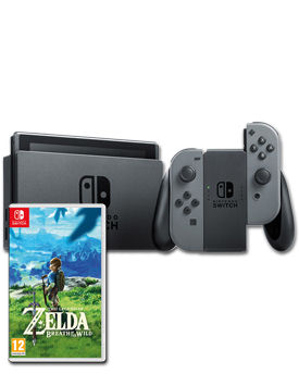 Nintendo Switch - Zelda Set -Grey-